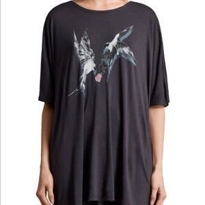 All Saints Lovers Dream Birds oversized tee